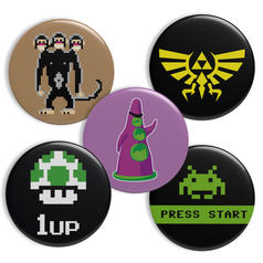 Geek Buttons Thema Gaming